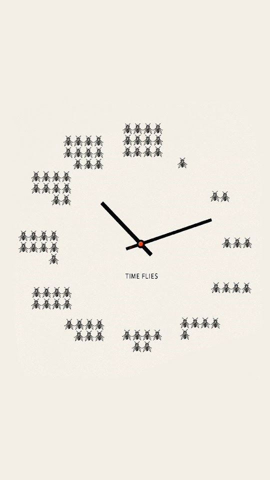 Time Flies Clock  Galaxy Note HD Wallpaper