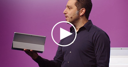 Video Microsoft introduction event Tablet Surface 2 and ...