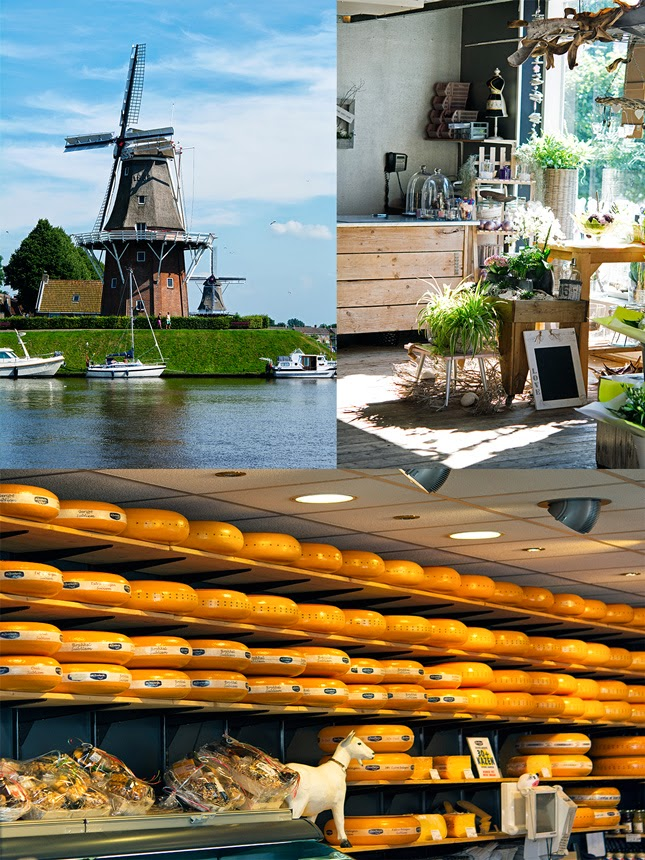 Dokkum shops and canals