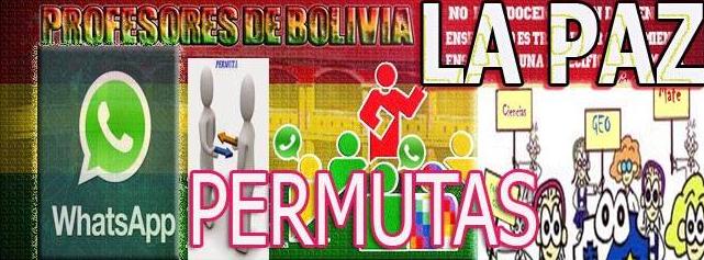 La Paz Permutas en WhatsApp