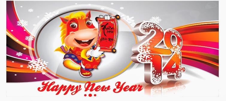 In băng rôn chúc mừng năm mới 2014
