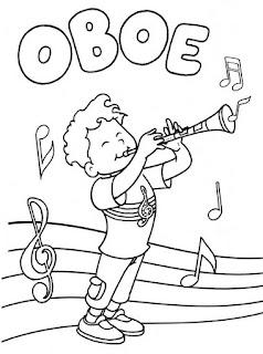 Oboe para colorear