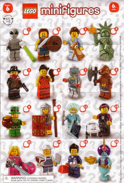 The Minifigure Collector: Lego Minifigures Series 6 Rarity Guide