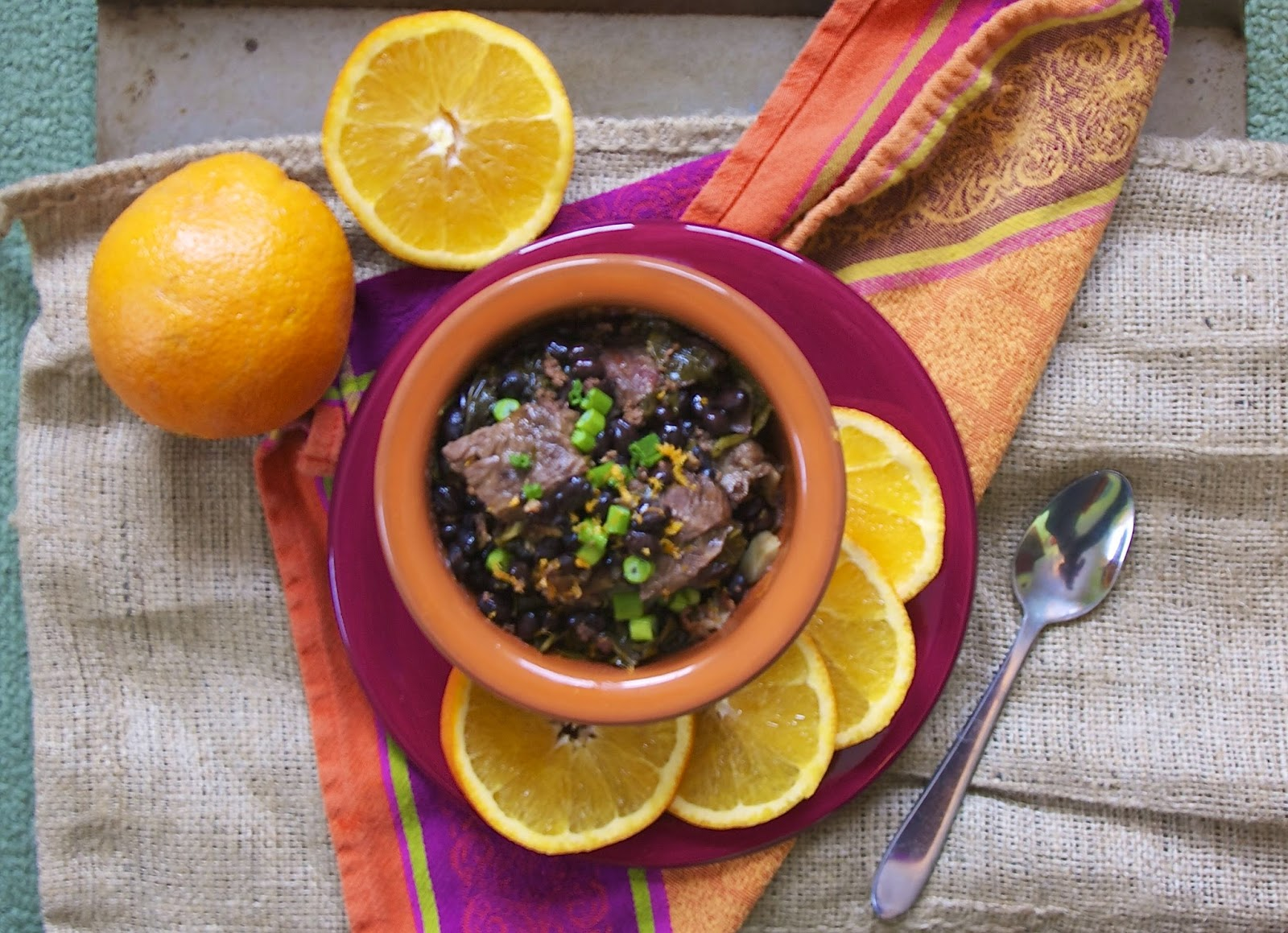 Slow Cooker Brazilian Beef & Black Bean Stew- simplelivingeating.com