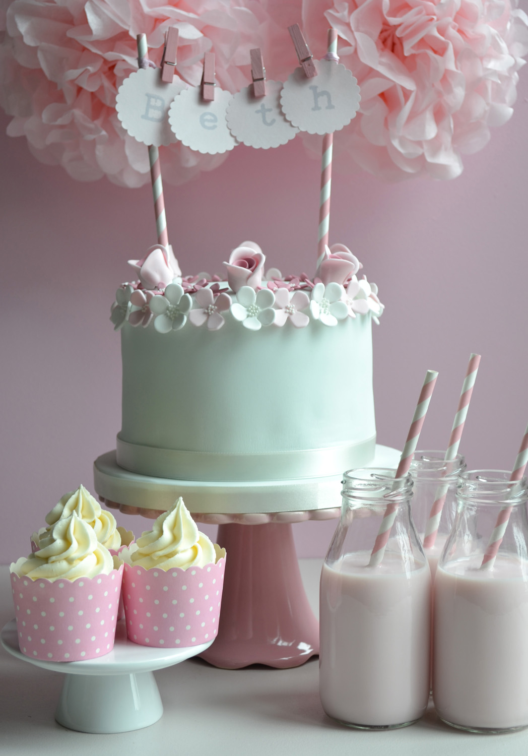 Little Paper Cakes Beths Vintage Birthday Cake