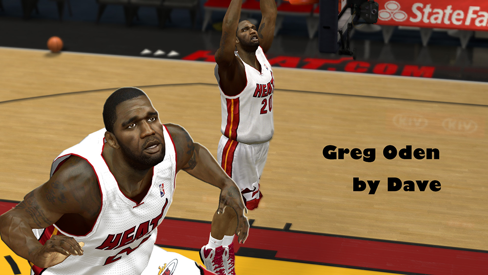 NBA 2K14 Greg Oden Cyberface