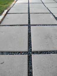 The cuban in my coffee modern concrete driveway update grass or river rock - Slab pathway design ideas ...