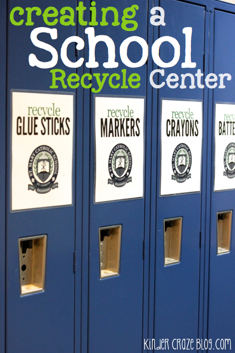 tips for creating a school-wide recycle center