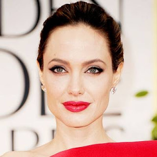 Angelina Jolie red lipstick 2013