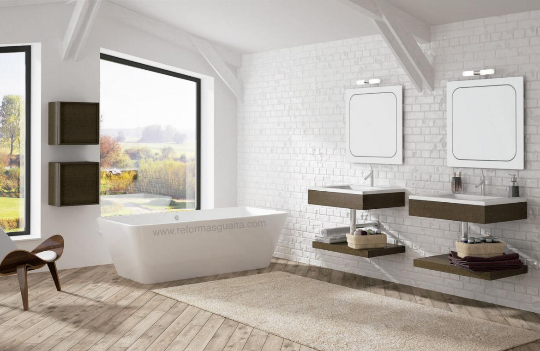 Mueble Lavabo Madera Fabulous Mueble De Xx Cm Espejo De X