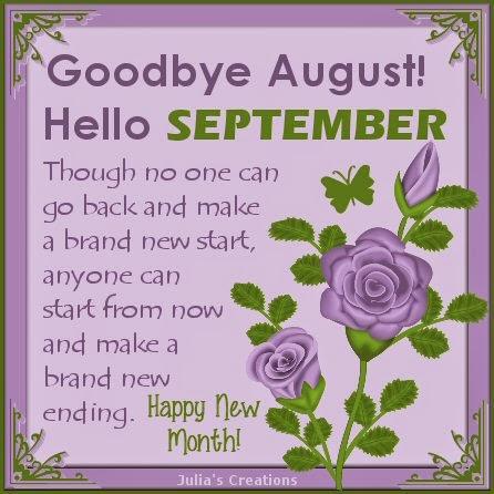 Image result for Goodbye August Hello September