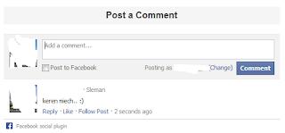 cara pasang kotak komentar facebook diblog