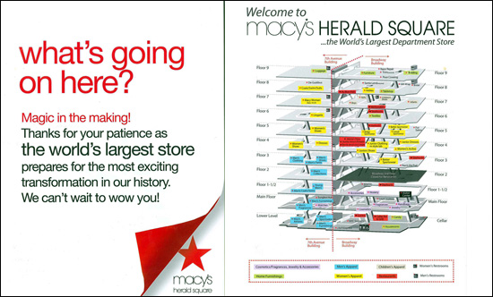 Fashion Herald: Macy's Herald Square: The Renovation Map