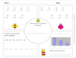 math worksheet : math warm up worksheets 1st grade  educational math activities : Daily Math Worksheets