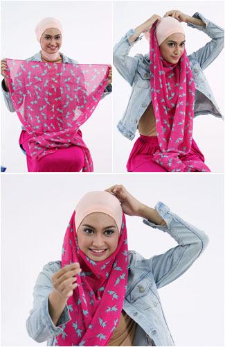 Tutorial Sederhana Hijab Pashmina