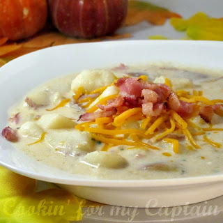 Cookin' for my Captain: Baked Potato Soup & Tips {linky}