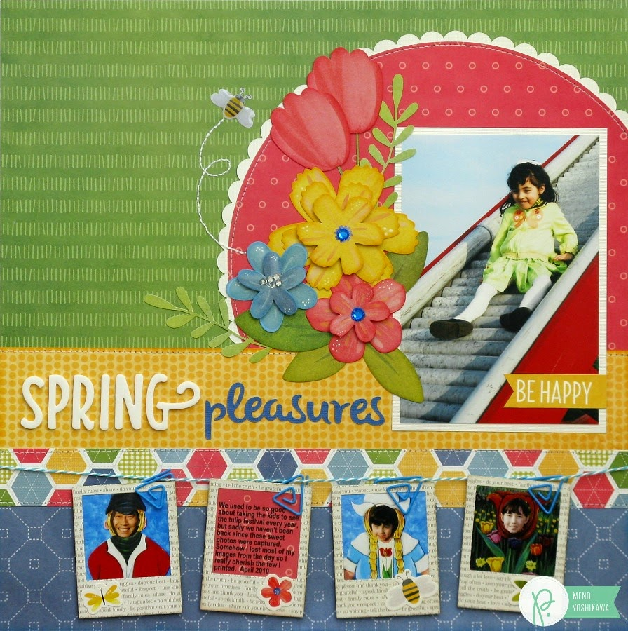 Scrapbook ideas with flowers - Top Ten Blog Hop My Favorite Scrapbook Layouts From 2015