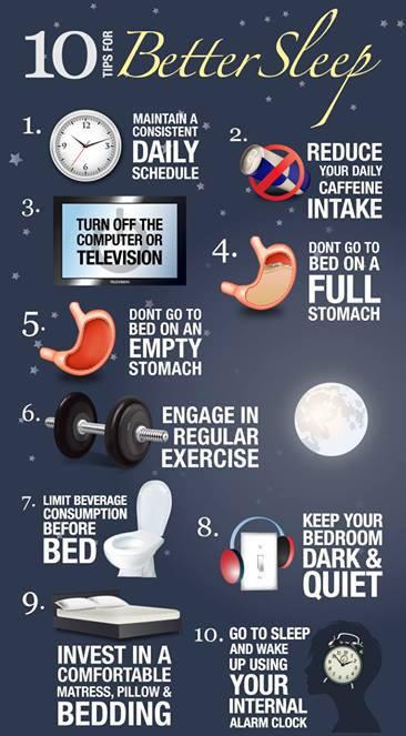 10 Tips ffor Better sleep