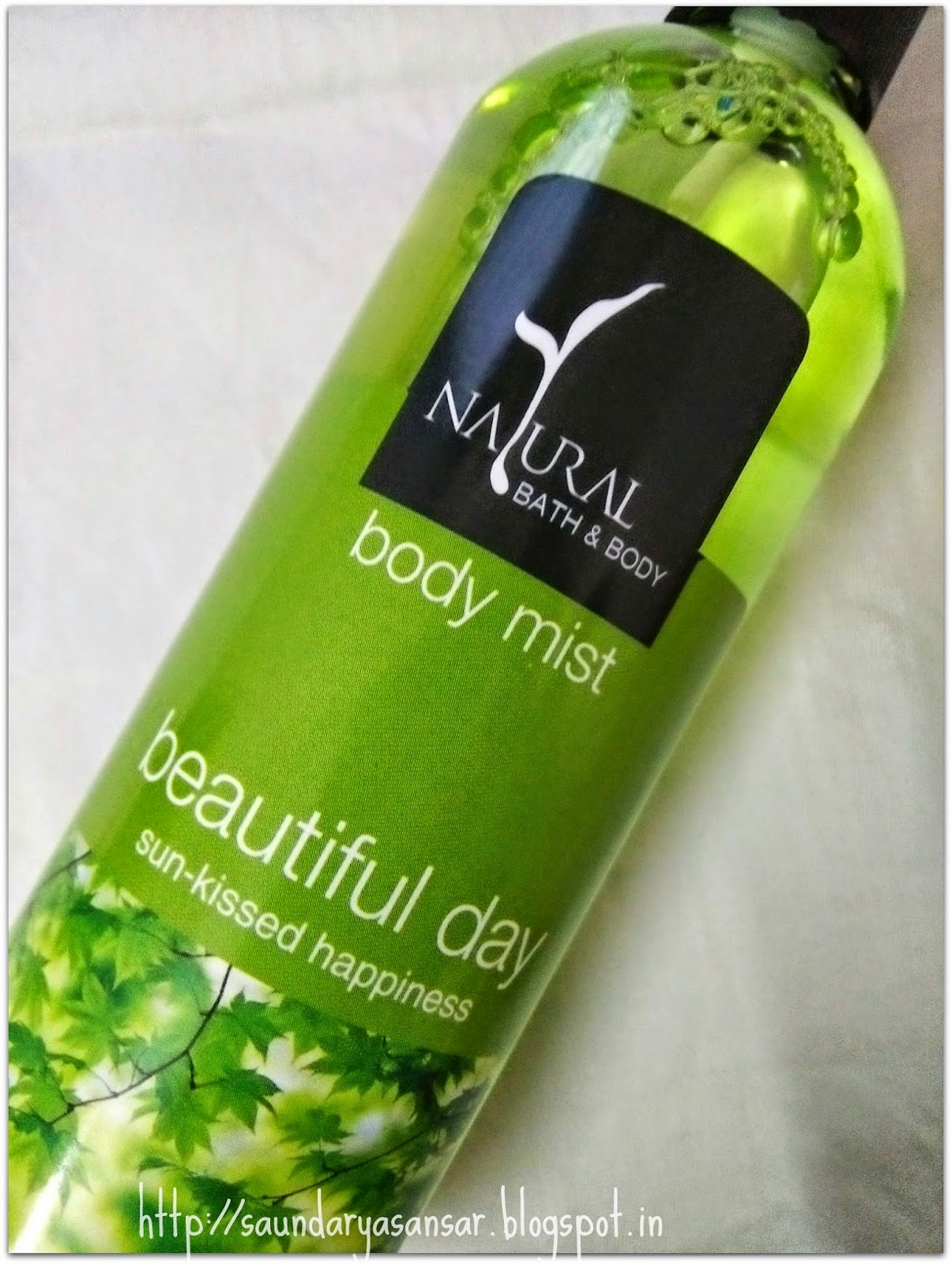 Natural Bath & Body- Beautiful Day Sun-Kissed Happiness body mist: Review