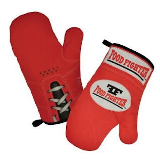 Mustard Food Fighter-Standard Edition Boxing Glove Style Oven Gloves