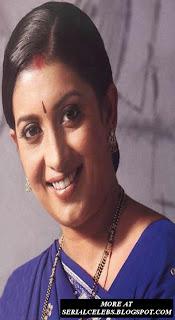 Hindi serial actress Smriti Irani