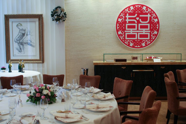 wedding logo design and backdrop at Cova Hong Kong