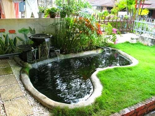 kolam ikan minimalis modern