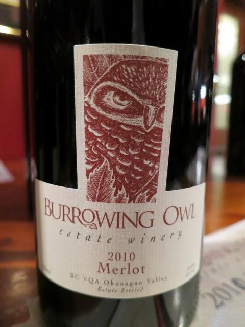 Wine Review of 2010 Burrowing Owl Merlot from BC VQA Okanagan Valley, British Columbia, Canada (89 pts)
