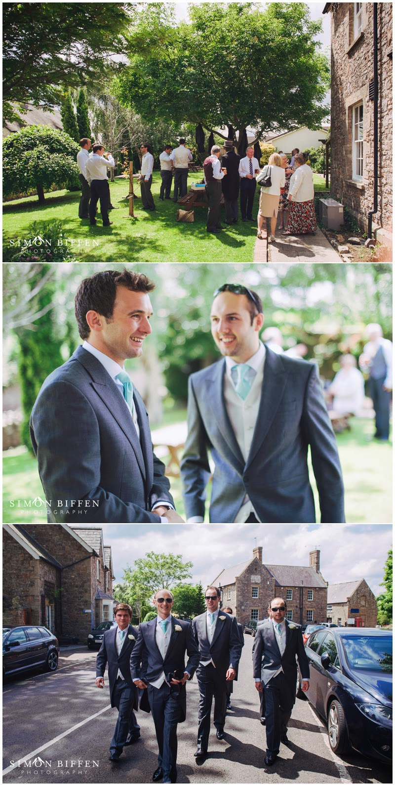 Groom and ushers pre wedding