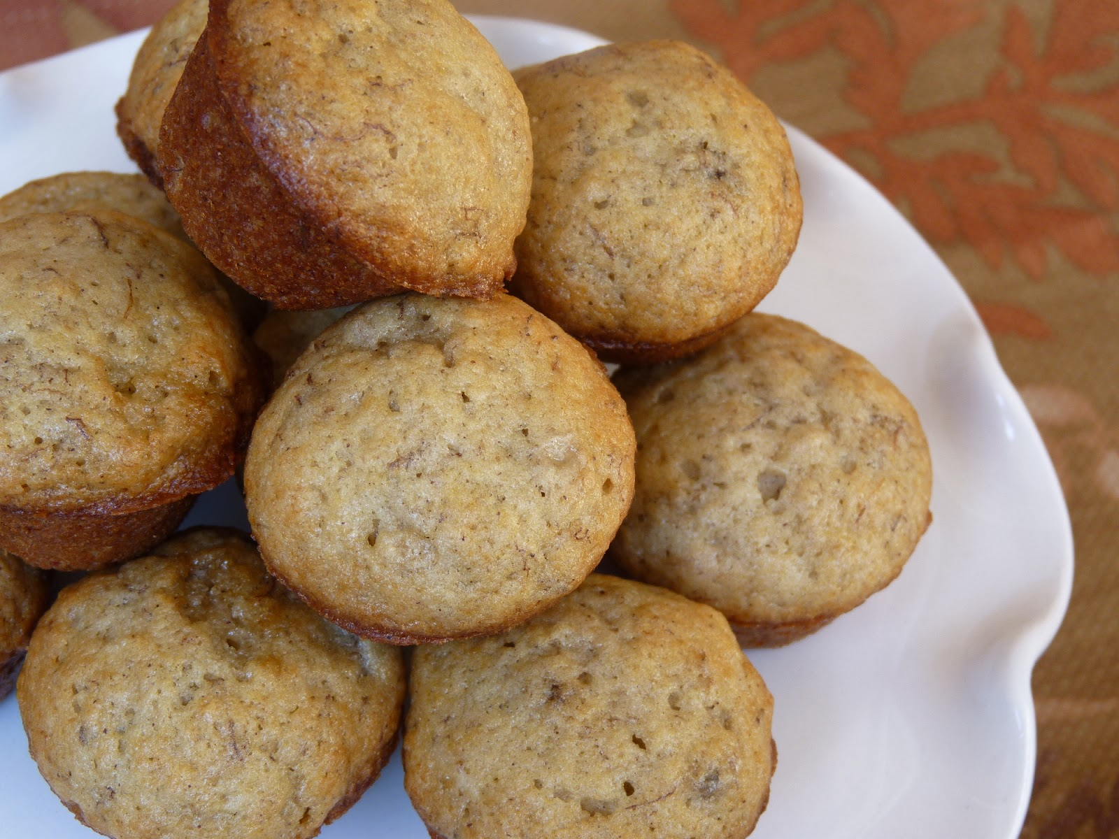 Fantastic family favorites mini banana muffins mini banana muffins adapted from foodnetwork 1 cup sugar 1 stick butter room temperature 2 large eggs 3 ripe bananas 1 tbsp milk forumfinder Image collections