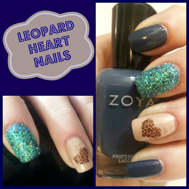 Mani Monday: Leopard Heart