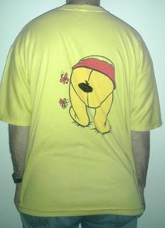 231 - winnie the pooh winniepooh orsetto bear miele goloso honey tshirt t-shirt ungheria hungary orecchie coda maglietta back