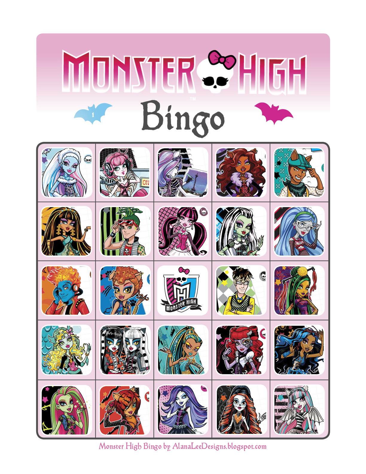 Worksheet Monster High Worksheets alana lee designs custom photo products with personality free including draculaura clawdeen wolf clawd frankie stein cleo de nile lagoona and ghoulia yelps plus brand new characters
