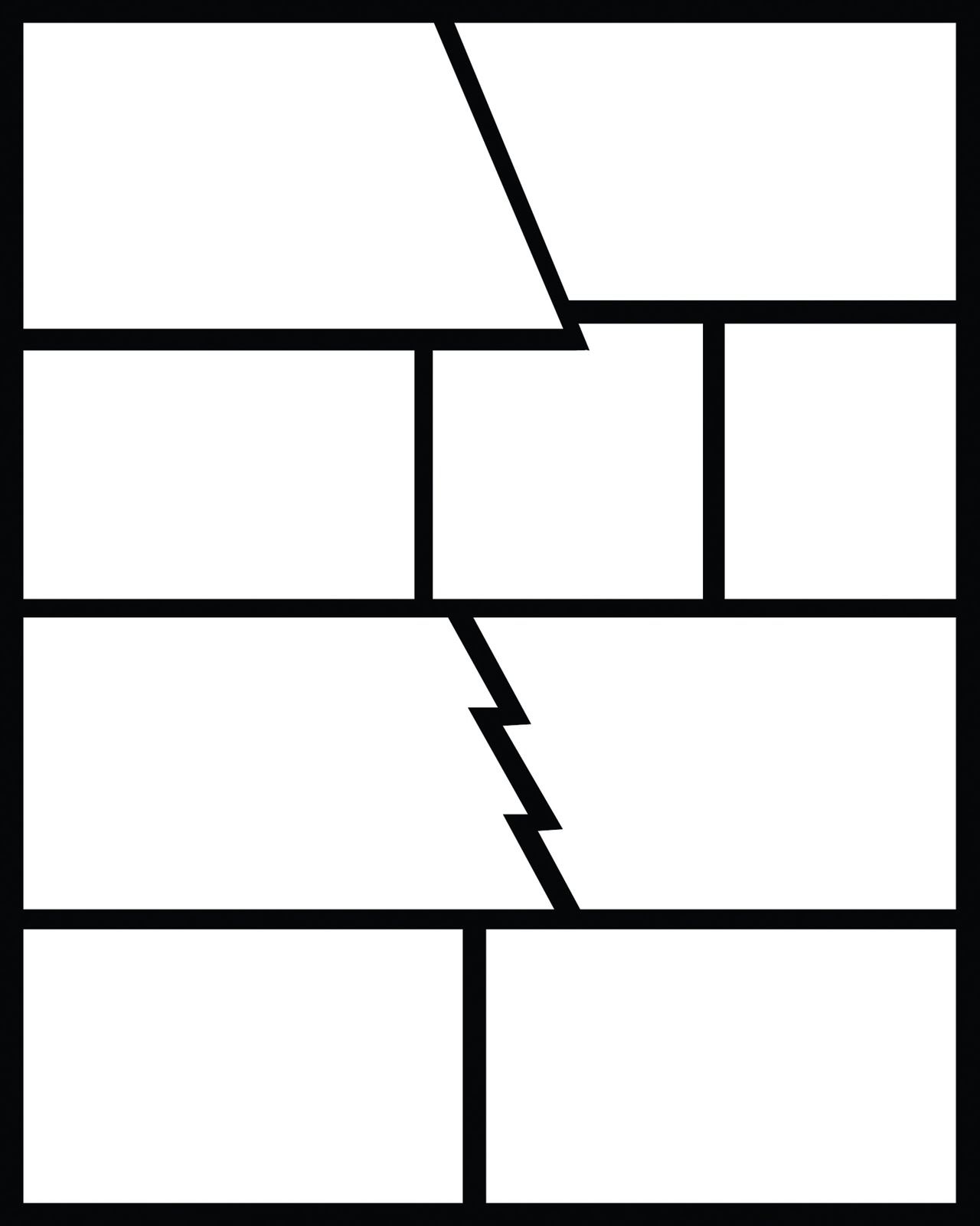 displaying 20 images for blank comic book layout pages