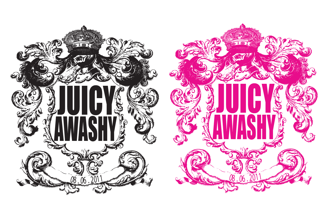 Juicy Couture Cake Stencil