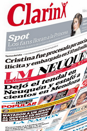 Tapas Principales Diarios Argentinos