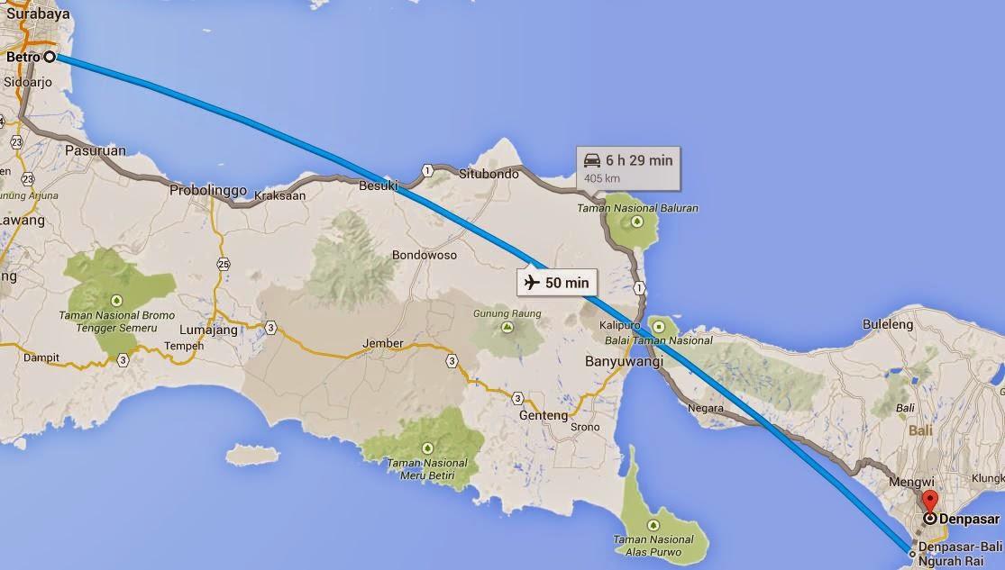 Peta-Surabaya-Jawa-Denpasar-Bali