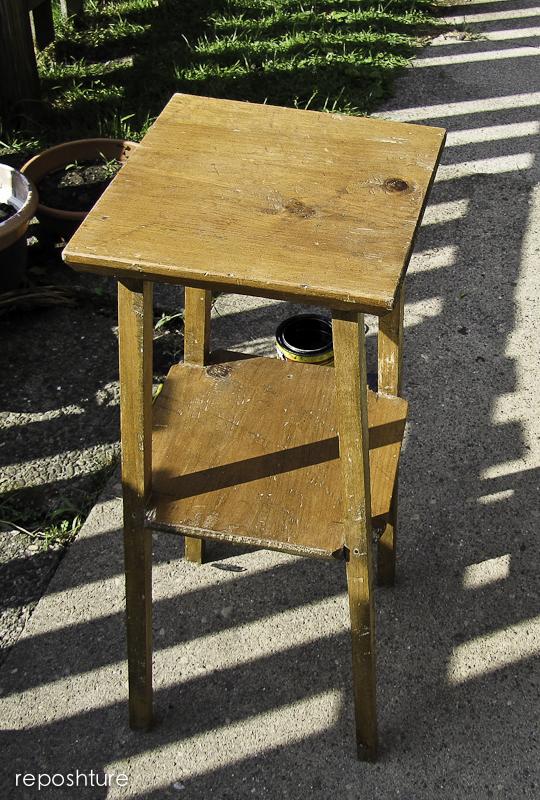 Reposhture Studio 5 00 Table Made Over In 5 Minutes