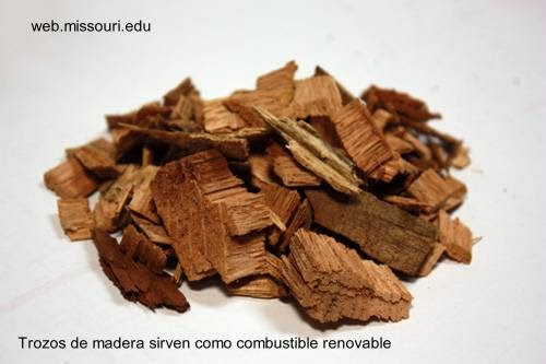 Trozos de madera chips