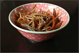 Recipe: Kinpira gobo (sauteed burdock root with soy glaze)