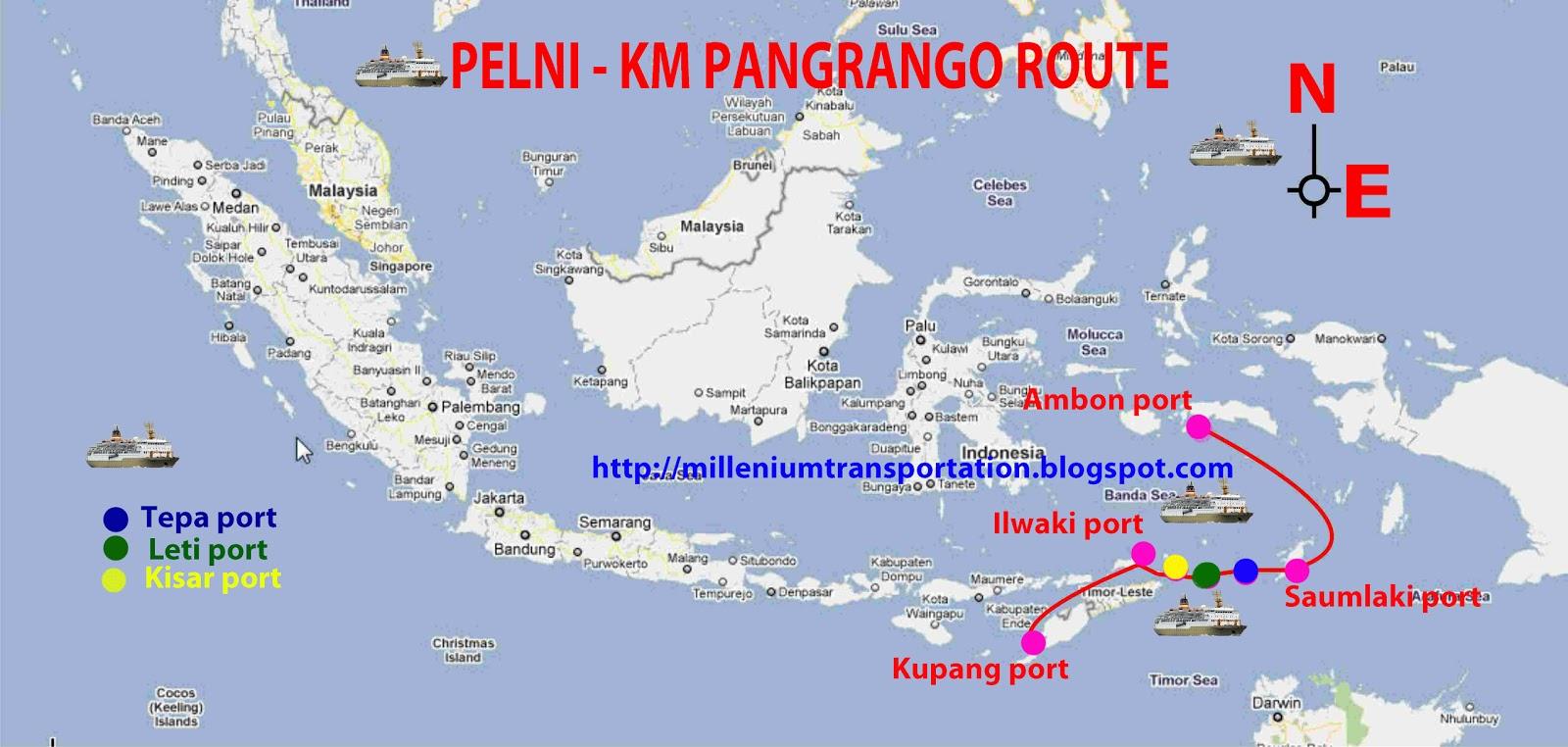 transportspot pelni routes map pangrango ship. Black Bedroom Furniture Sets. Home Design Ideas