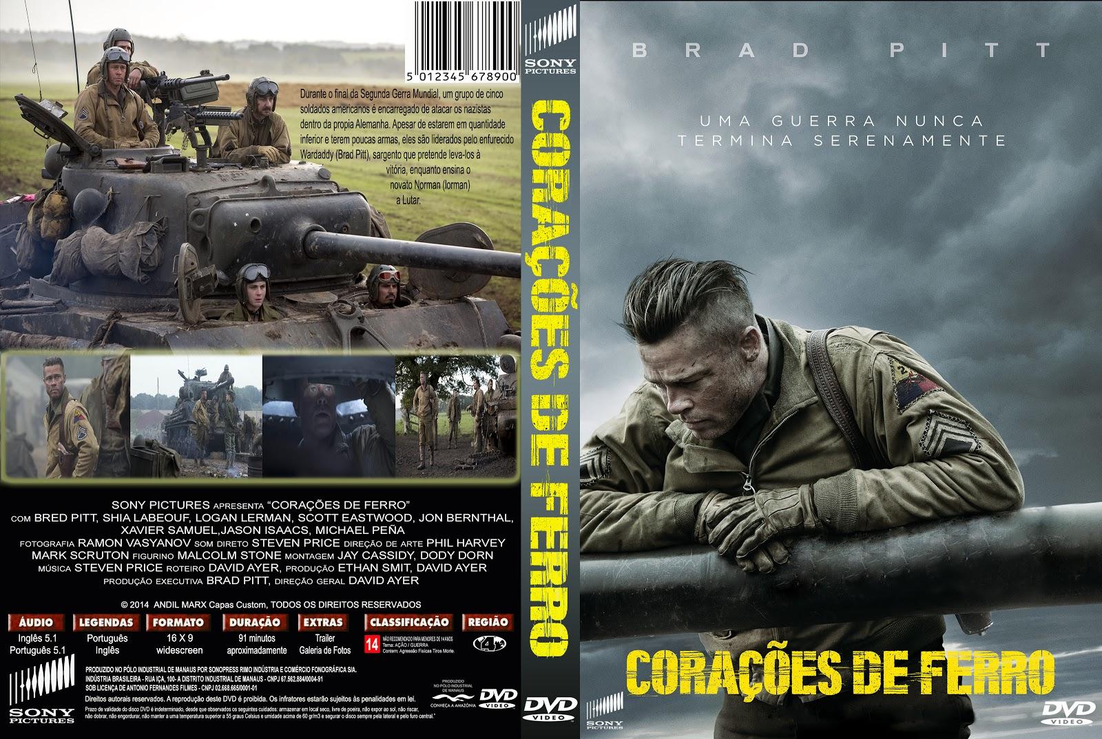 Capa DVD Corações De Ferro