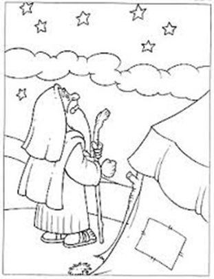 bible abraham stars coloring pages - photo#23