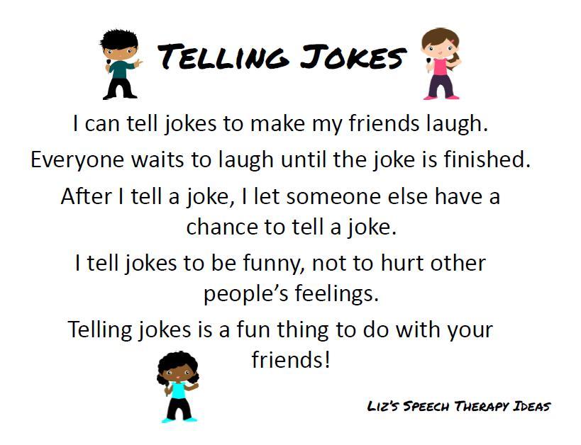 Liz's Speech Therapy Ideas: Joke Telling Unit