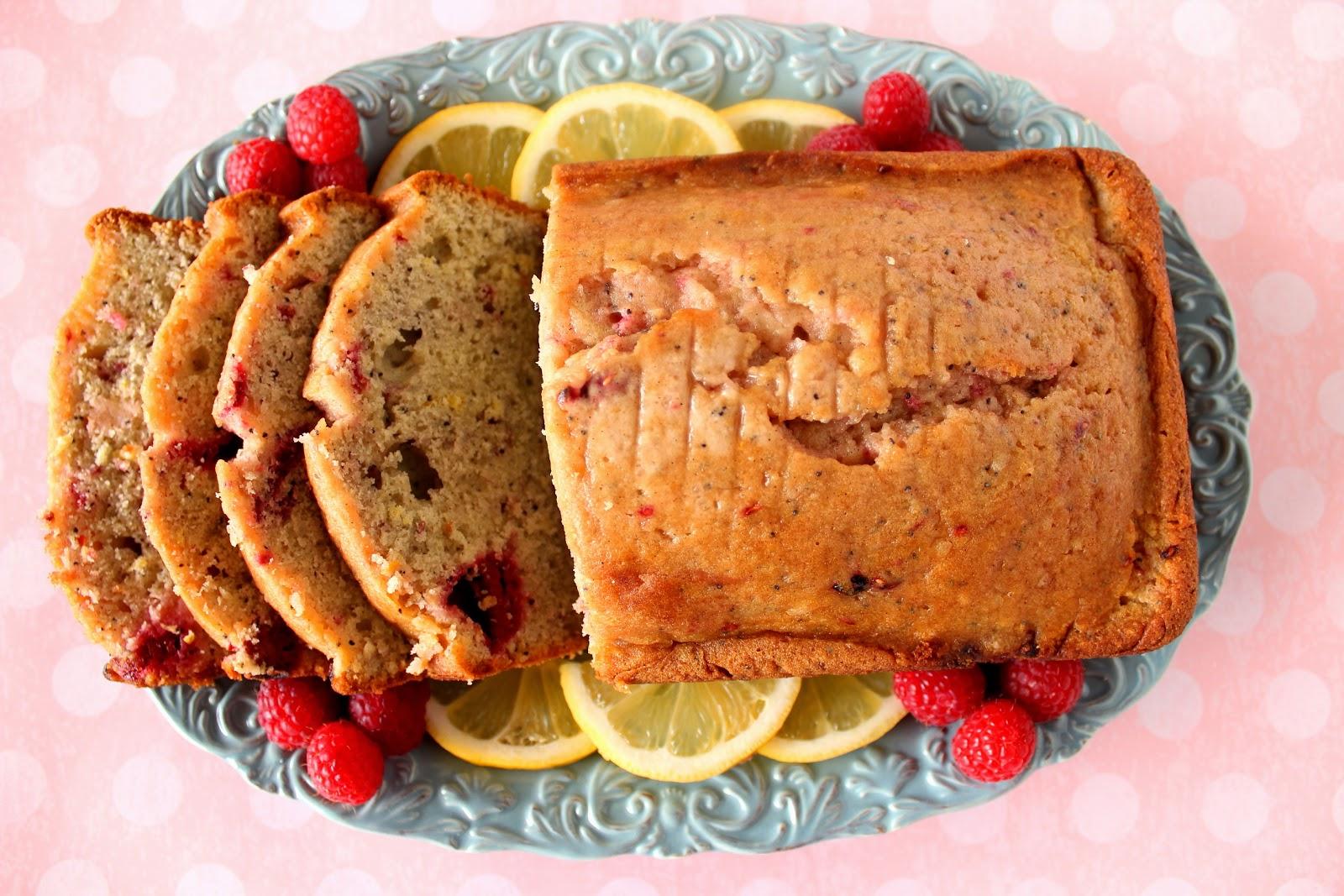 Lemon Raspberry Cardamom Quick Bread Recipe via Kudos Kitchen By Renee