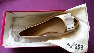 balerinki Melissa model Ultra Sweet Gold w pudełku z woreczkiem