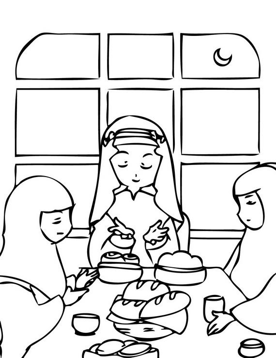 Islam Para Niños: Dibujos para Colorear