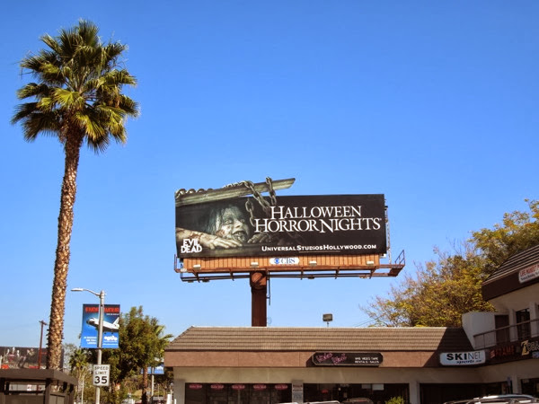 Halloween Horror Nights Evil Dead billboard