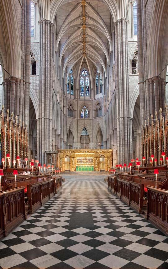 Interior Of Westminster Abbey London