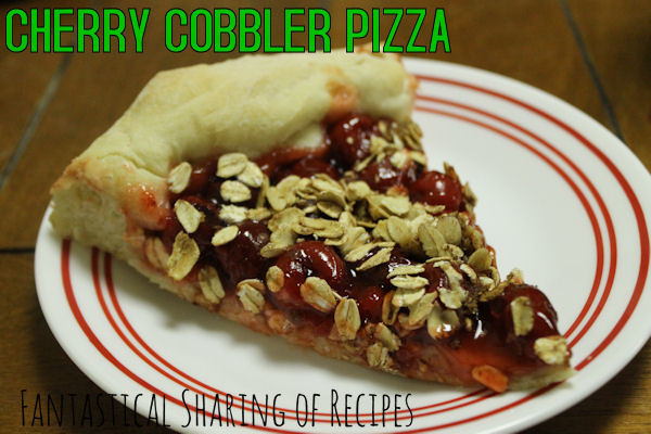 Cherry Cobbler Pizza | A yummy #dessert for the Pass the Cook Book Club